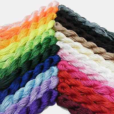 Kumihimo Satin Nylon Rattail Cord - 1mm Nylon Thread - 24Mtrs skeins - New In!!