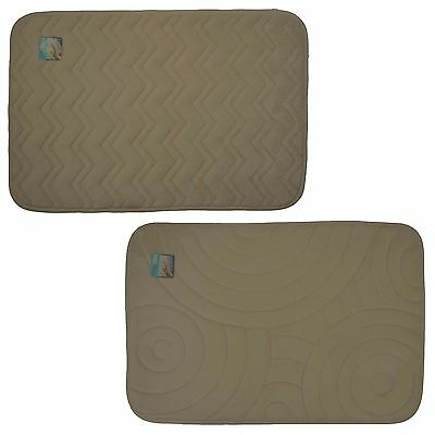 Popular Bath Memory Foam Bath Rug Emboss Leafy Collection 17 x 24 Taupe
