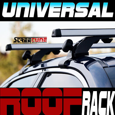 "Silver 50"" Adjustable Window Frame Roof Rack Rail Cross Bars Luggage Carrier S11"