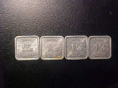 4 Dept Of Finance State Of Illinois 1-1/2 Occupation Tokens! Y133Xx