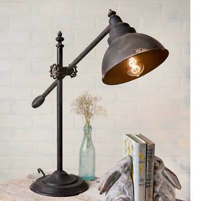 Vintage Shabby Chic Industrial Swing Arm Adjustable Table Lamp Rustic Bronze