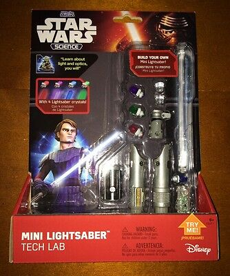 New Disney Star Wars Science Build Your Own Mini Lightsaber Tech Lab