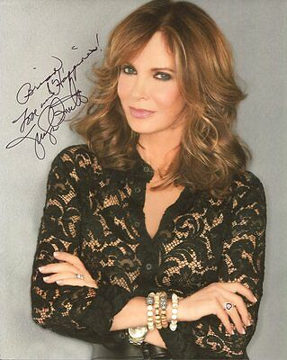 JACLYN SMITH autographed 8x10 color photo      CHARLIE'S ANGELS    To Brian
