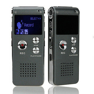 8GB USB Steel High-definition Digital Voice Sound Recorder Dictaphone MP3 Player
