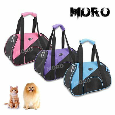 Petcomer Small Pet Dog Cat Booster Backpack Carrier Travel Bag w/ Leash OZ Local