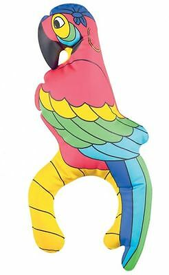 28cm Inflatable Shoulder PARROT Tropical Bird Pirate Fancy Dress Accessory 91825