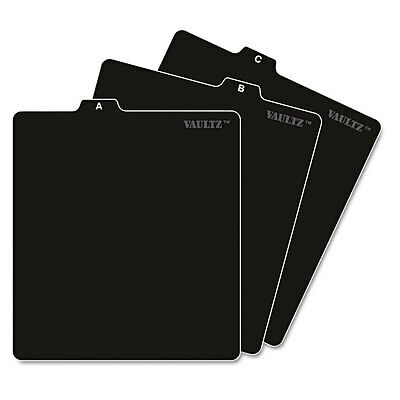 Vaultz A-Z CD File Guides 5 x 5-3/4 Black