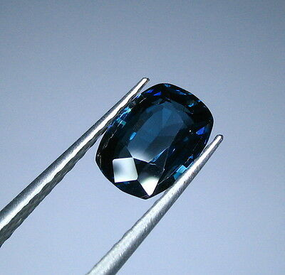 Srilankan Untreated Certified Cobalt Blue Spinel 1.58 Ct.(Rare Find) (00447)