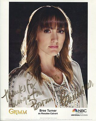 BREE TURNER autographed 8x10 color photo      GORGEOUS STAR OF GRIMM    To Brian