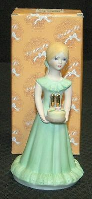 Enesco Growing Up Girl AGE 11 Blonde Figurine/Cake Topper E-2311 FREE SHIP New!