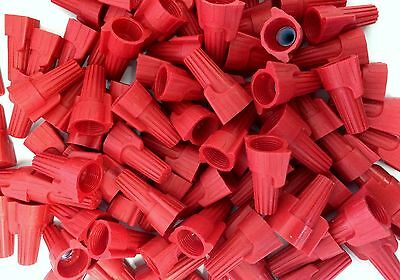 (500 pc) Red Winged Screw On Nut Wire Connectors Twist On BAG lot AWG 8-18