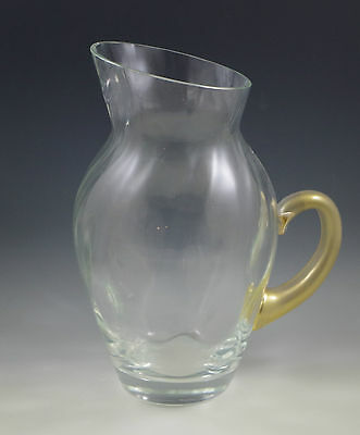 2001 Union Street Glass Manhattan Large Pitcher Jug , Art Glass, -Signed