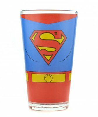SUPERMAN Costume PINT GLASS Drinking Glass