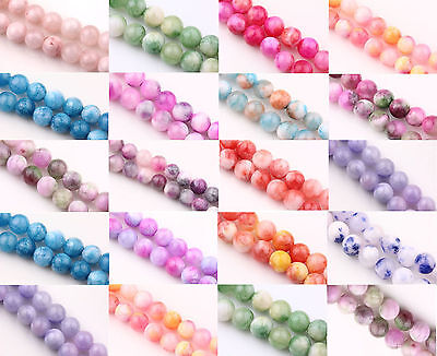 Trendy Natural Gemstone Round Spacer Loose Beads Charm Finding Craft 6/8/10MM