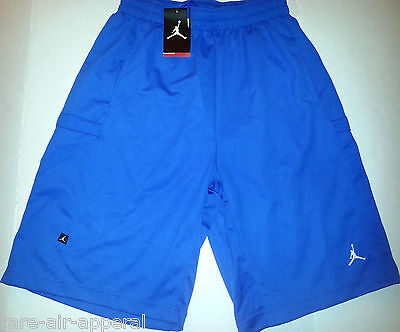 New NIKE AIR JORDAN JUMPMAN FLIGHT GFX MESH BASKETBALL SHORTS BLUE AJ0444-405