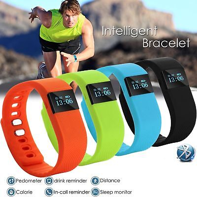 Smart Bracelet Pedometer Watch Bluetooth 4.0 Sleep & Fitness Monitor Android iOS