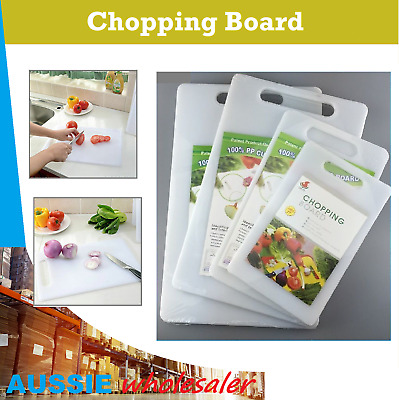 Premium Professional Plastic Heavy Duty Kitchen Chopping Cutting Board White New