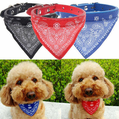 EXTRA SMALL Pet Bandana - Cat Dog Collar Kitten Puppy Neck Scarf Leather Charm