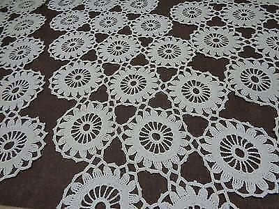 Lace Crochet Doily Set Table Runner Crochet Tablecloth Croatia Vintage Lot of 4
