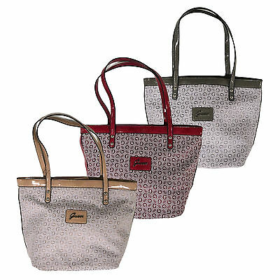 Guess Handbag Purse Tansy Shoulder Bag Tote Monogram Wine Nude Grey Vv288731 2c524acf462b2
