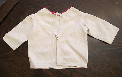 Victorian quilted baby jacket