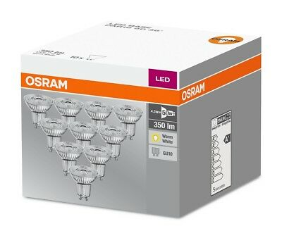 12er-PACK OSRAM LED BASE PAR16 GU10 LED Strahler 3W=35W 36° 2700K