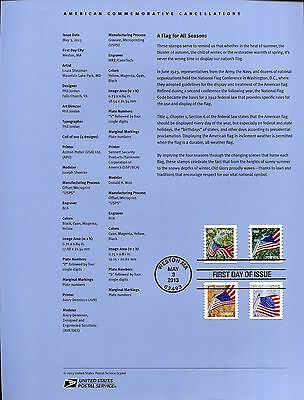 #4766-77  Forever - Flag for All Seasons APU Coil USPS #1320 Souvenir Page