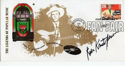 """Kris Kristofferson  """"USA Country & Western"""" 1993 FDC Signed The Highwayman"""