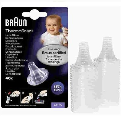 Braun Ear Thermometer Lens Filters LF40 - Pack of 40