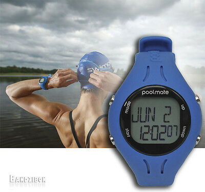 Blue PoolMate 2 Swimovate Lap Counting Watch Sport Computer Open Water Swimming