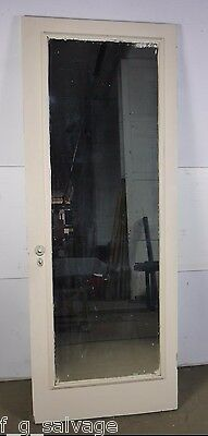 "Antique Vintage 2 Panel Interior Door w/Mirror 30"" X 78-3/4"" (M2) Local Pickup"