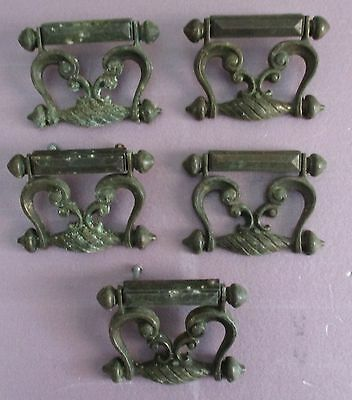 Set Of 5 Shabby 'n Chic Cast Metal Drawer Door Pulls