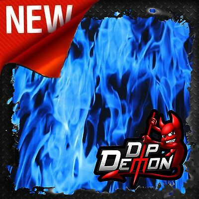 Blue Fire Flames Hydrographic Water Transfer Film Hydro Dipping Dip Kit Inferno