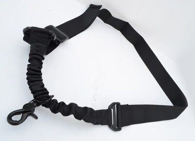 Nylon Bungee Single Point One Point Sling Tactical Rifle Gun Sling - Black