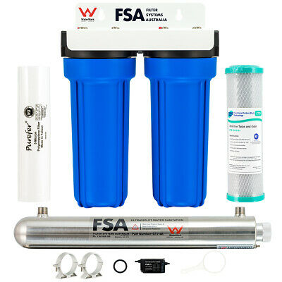 "Whole House Water Filter System 10"" x 2.5"" Ultraviolet Sanitation Unit 1-4GWUV"