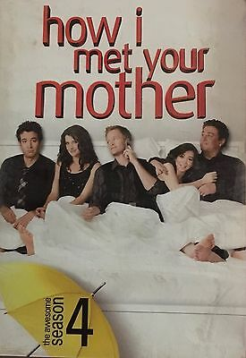 How I Met Your Mother the Complete Fourth Season 3-Disc Set NTS Region 1 DVD VGC