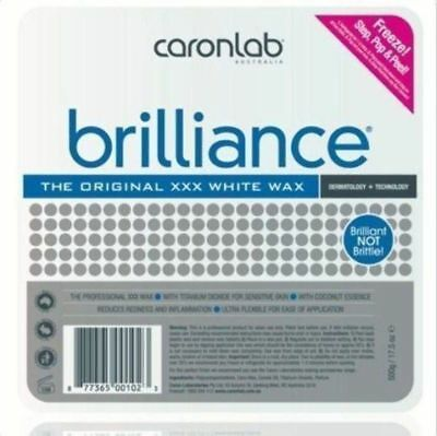 Caron Brilliance Hard Hot Wax Pallet Tray 500g Waxing Hair Removal