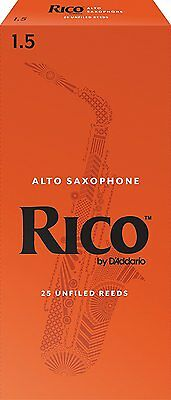 Rico by D'addario Alto Sax Reeds 25 Pack Strength 1.5 RJA2515