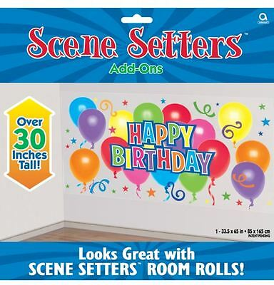 """Happy Birthday Scene Setter Party Decoration Wall Decoration OVER 30"""" TALL 73201"""