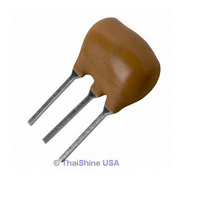 5 x 4.000 MHz CERAMIC RESONATOR 3-PINS ZTT Series - USA Seller - Free Shipping