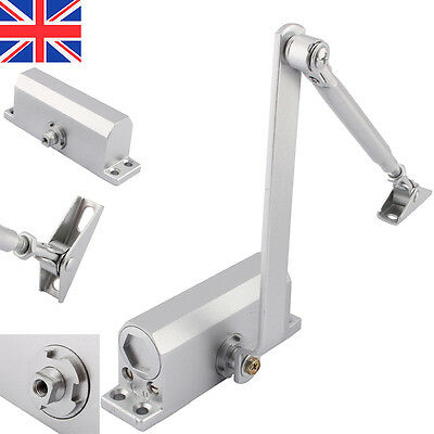Adjustable Heavy Duty FIRE RATED Overhead Steel Door Opener Closer Close 25-80KG