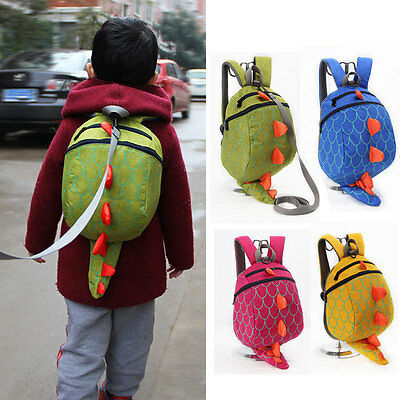 3D Cartoon Dinosaur Baby Toddler Safety Harness Anti lost Backpack Strap Walker