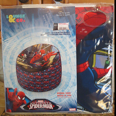 NEW Marvel Comics Ultimate Spiderman Kid's Bean Bag Chair Cover- new in package