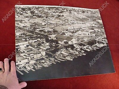16x20 1950s RALPH FOSTER AERIAL PHOTO So Calif NEWPORT BEACH PCH Boat Yards F9