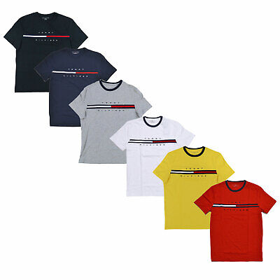 Tommy Hilfiger Men Classic Fit Crewneck Big Logo T Shirt NWT S,M,L,XL