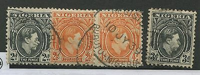 Nigeria #56, 57, 59, 67 Used F/vf