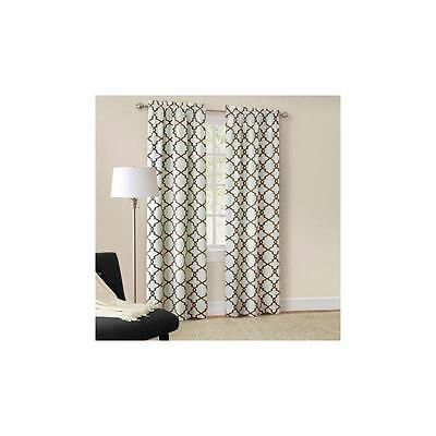 Mainstays Calix Fashion Window Curtain, Set Of 2, Neutral