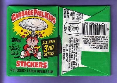 1986 Garbage Pail Kids Original Series 3 Wax Pack (x1) from Box!