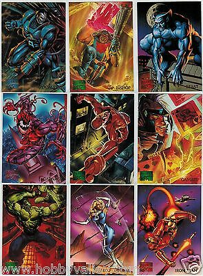 1995 MARVEL MASTERPIECES SERIES IV 4 FLEER COMPLETE SET #1-151 X-Men