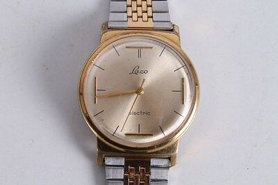 Antique Vintage Old German Made Laco Electric Men's Wrist Watch.